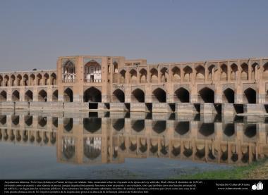 Arquitectura islámica- Pol-e Jayu (kahyu) o Puente de Jayu en Isfahán- Irán, construido sobre rio Zayande en 1650 dC. - 42