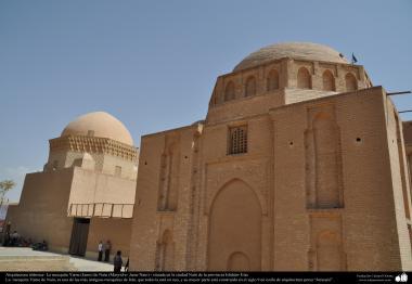 """اسلامی فن تعمیر - نویں سدی میں قائم ہوئی """"نائین"""" کی جامع مسجد شہر اصفہان میں - ایران - ۱۰۰"""