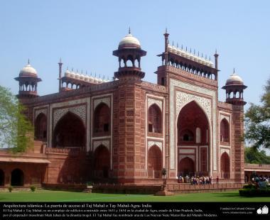 Porte d'entrée du Taj Mahal, Agra, Inde