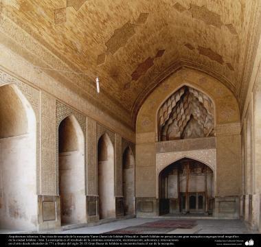 Arquitectura islámica- Una vista de una sala de la mezquita Yame (Jame) de Isfahán (Masyid-e- Jameh Isfahán) - 44