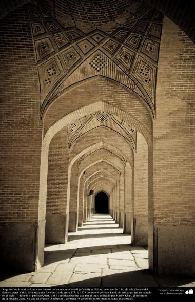 Arquitectura islámica- Una vista interna de la mezquita Wakil (o Vakil) en Shiraz, en el sur de Irán - 22