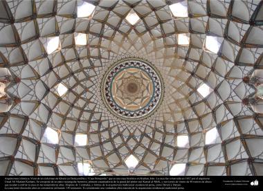 Исламская архитектура - Фасад потолка - Исторический дом Боруджерди в городе Кашана - 230
