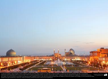 """سلامی فن تعمیر - شہر اصفہان میں """"نقش جہان"""" نام کا میدان جو یونیسکو عالمی تنظیم میں عالمی آثار قدیمہ کے نام سے رجیسٹرڈ ہے ، ایران - ۱۷"""