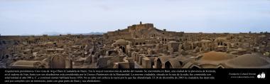 Arquitetura pré-islâmica - Uma vista de Arg-é Bam (Cidadela de Bam). Foi a maior construção de adobe do mundo construída antes do ano 500 a.C - 6