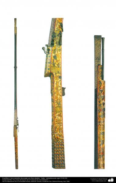 Arte islámico-Cuchillos y otros utensilios decoradas con finos detalles – India – probablemente siglo XVIII DC.
