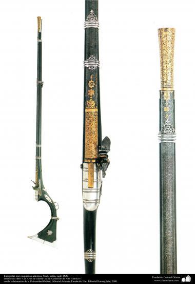 Arte islámico-Escopetas con exquisitos adornos, Sind, India, siglo IXX.