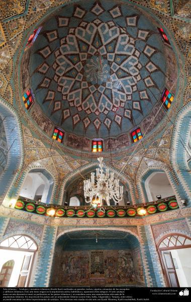 اسلامی معماری - اسلام کی مسجد اور عمارتوں میں فن کاشی کاری اور ٹائل کا ایک نمونہ ، دیوار، چھت، گنبد اور مینارہ کی سجاوٹ کے لیے - ۷۹