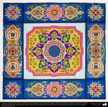 Architecture de la femme musulmane - Une vue de motif de carrelage utilisé comme decoratif dans les mosquées et les constructions islamiques dans le monde - 45