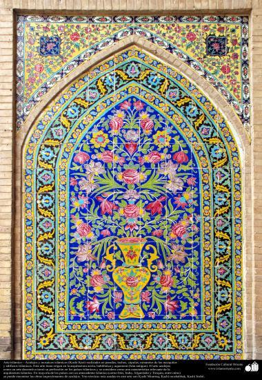 Исламская архитектура - Вид кафелев, употребленных на стенах , потолках , куполе и минарете для украшения мечетей и зданий исламского мира - 43