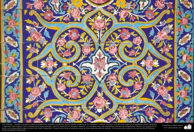 اسلامی معماری - اسلام کی مسجد اور عمارتوں میں فن کاشی کاری اور ٹائل کا ایک نمونہ ، دیوار، چھت، گنبد اور منارہ کی سجاوٹ کے لیے - ۸۹