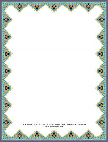 Islamische Kunst Türkisch (Verzierungen durch Malerei und Miniatur) - Rahmen - 2 - Tazhib im Kader