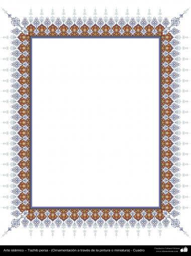 Islamische Kunst - Persisches Tazhib - Rahmen - 97 - Tazhib (Verzierungen von wertvollen Seiten und Texten) - Tazhib im Kader