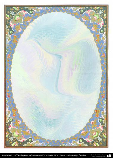 اسلامی ہنر - فن تذہیب سے فریم اور حاشیہ کی سجاوٹ اور ڈیزاین - ۶۴