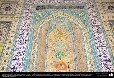 معماری اسلامی - نمایی از کاشی های استفاده شده در دیوارها، سقف ، گنبد، مناره برای دکوراسیون مساجد و ساختمان ها در جهان اسلام  - 83