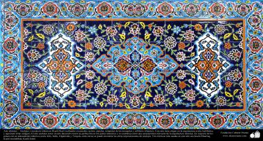 Islamic Art – Islamic Enamel and mosaics(Kashi Kari) on walls, ceilings and minarets, as well on islamic buildings- 49