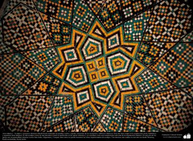 Islamic Arquitechture, Islamic enamel and mosaic (Kashi Kari) in a Mosque- 22