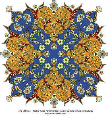 Arte Islâmica - Yazhib Turco (ornamentação através da pintura ou miniatura)