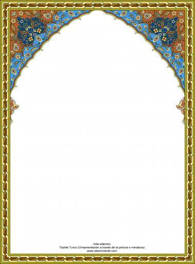 Arte Islamica -  Tazhib turco – Cornice
