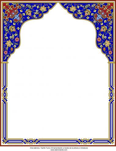 Arte islámico – Tazhib Turco - en cuadro - 18