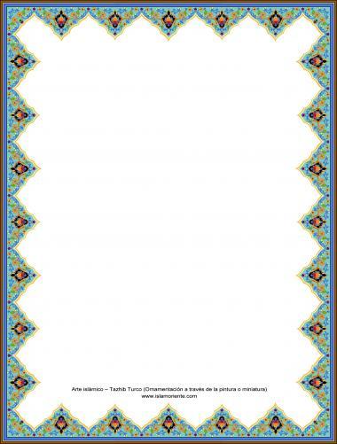 Arte islámico – Tazhib Turco (Ornamentación a través de la pintura o miniatura) -Cuadro-19