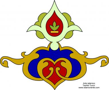 "Islamic Art - Tazhib Turkish - ""Toranj"" style"