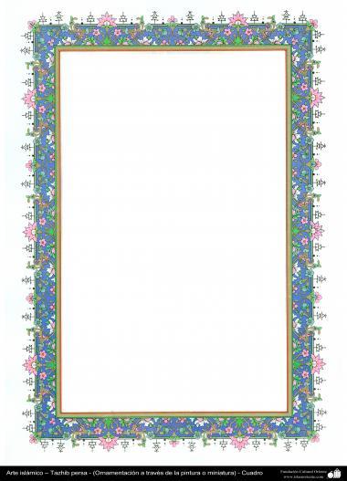 Islamische Kunst - Persisches Tazhib - Rahmen - 81 - Tazhib (Verzierungen von wertvollen Seiten und Texten) - Tazhib im Kader