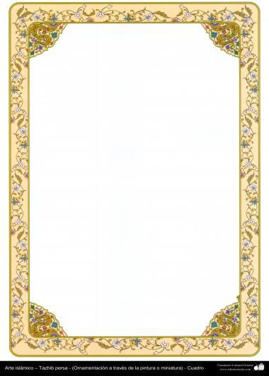 Islamische Kunst - Persisches Tazhib - Rahmen 9 - Tazhib im Kader