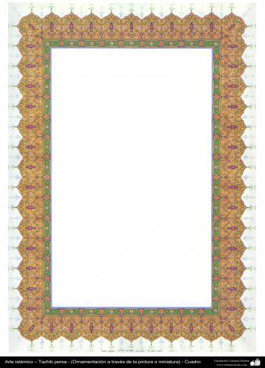 Arte islámico – Tazhib persa - cuadro - 54