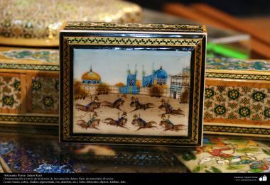Artesanato Persa - Khatam Kari (marchetaria e Ornamentação de objetos) Isfahan, Irã - 3
