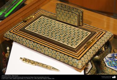 Artesanato Persa - Khatam Kari (marchetaria e Ornamentação de objetos) Isfahan, Irã - 9
