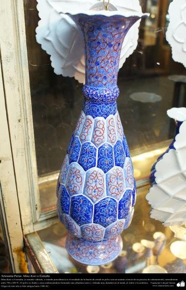 Persian Handicraft - Mina Kari or Enamel - 32