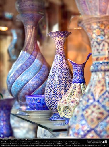 Arte islamica-Artigianato-Mina Kari o lo smalto-Oggetti ornamentali-10