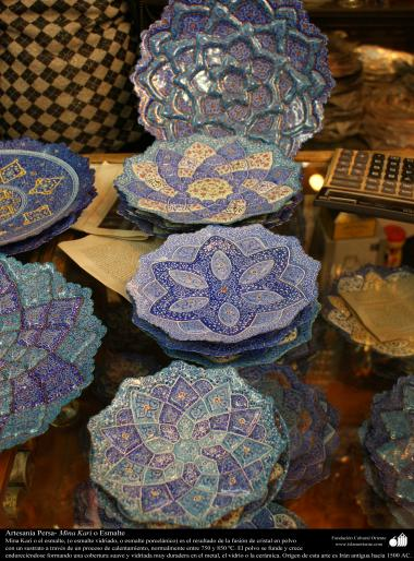 Artisanat persans - Mina Kari ou émail - 16