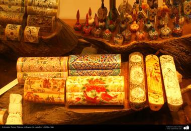 هنر اسلامی - صنایع دستی - نقاشی روی استخوان شتر - 4