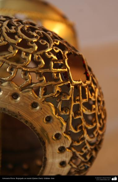Persian Handicrafts - emobssed in metal (Qalam Zani) - 43