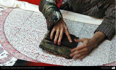 Arte islamica-Artigianato-La stoffa tradizionale stampata(Chappe Ghalamkar)-10