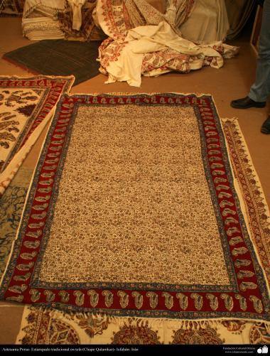 Persian Handicrafts - Traditional stamped on cloth (Chape Qalamkar) - 5
