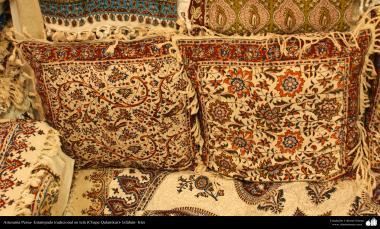 Artesanato Persa - Estampado tradicional em tecido (Chape Qalamkar) Isfahan, Irã - 15