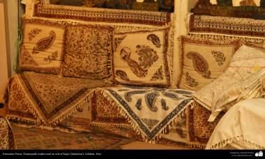 Artesanato Persa - Estampado tradicional em tecido (Chape Qalamkar) Isfahan, Irã - 4