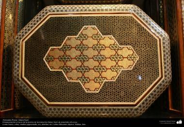 Artesanato Persa - Khatam Kari (marchetaria e Ornamentação de objetos) Isfahan, Irã - 7