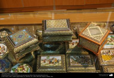 Persian Handicraft - Khatam Kari (Marquetery and ornamentation of objects) - 69