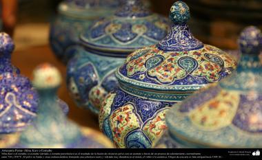Artesanato Persa - Mina Kari o esmalte. Técnica de ornamentação de objetos criada no Irã no ano de 1500 a.C - 16