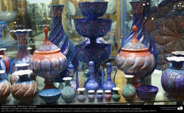 Artesanato Persa - Diversoa objtos decorativos - Mina Kari, Isfahan, Irã