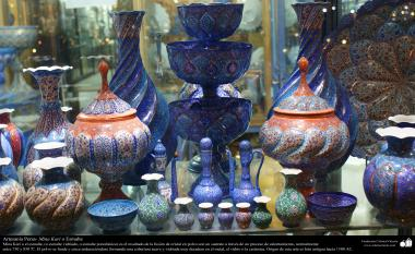 هنر اسلامی - صنایع دستی - مینا کاری -  اشیاء زینتی  - 43