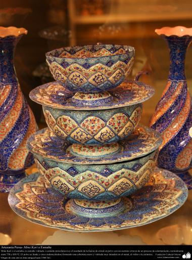 اسلامی ہنر - فن مینا کاری سے سجایا ہوا برتن ، ایران - ۳۰
