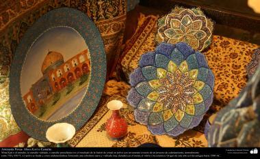 Artesanato Persa - Mina Kari ou esmaltagem. Técnica de ornamentação de objetos criada no Irã no ano de 1500 a.C - 12