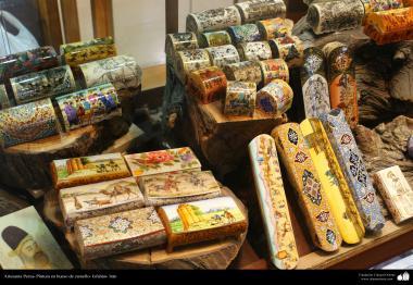 هنر اسلامی - صنایع دستی - نقاشی روی استخوان شتر - 3