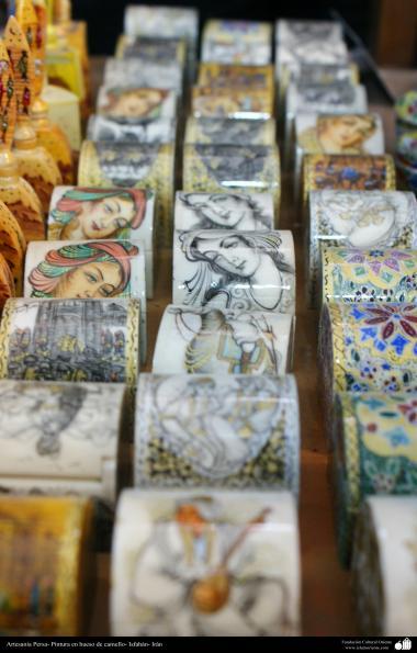 Persique Peinture Artisanat os de chameau - 13