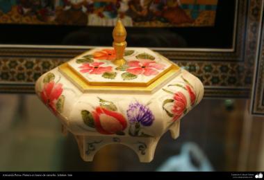 Persian Art - Painting on Camel bone - 9