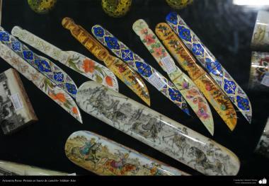 Artisanat persans - Peinture os de chameau - 11